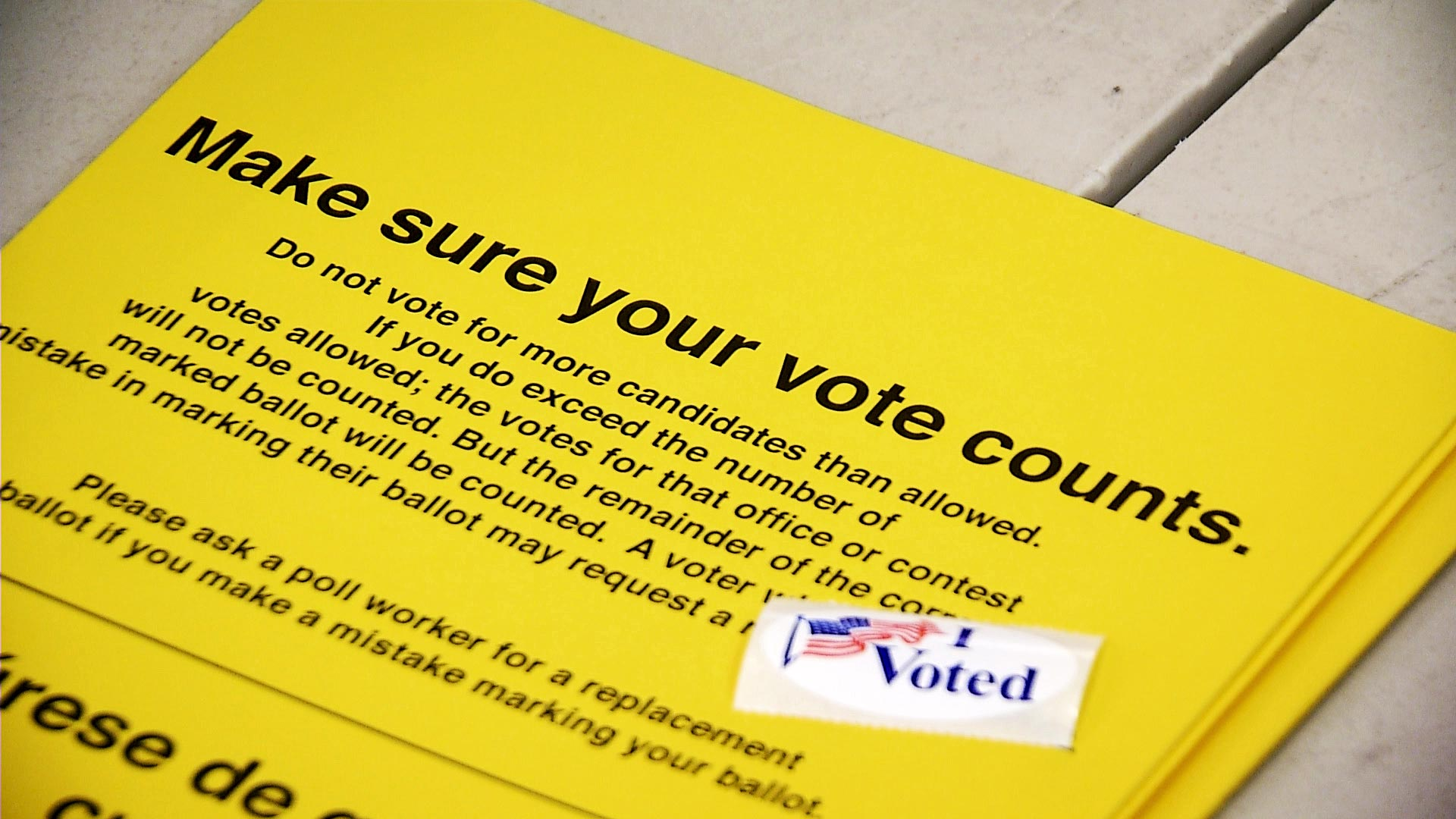 A flier informs Pima County voters how to correctly fill out their ballots to have it counted.
