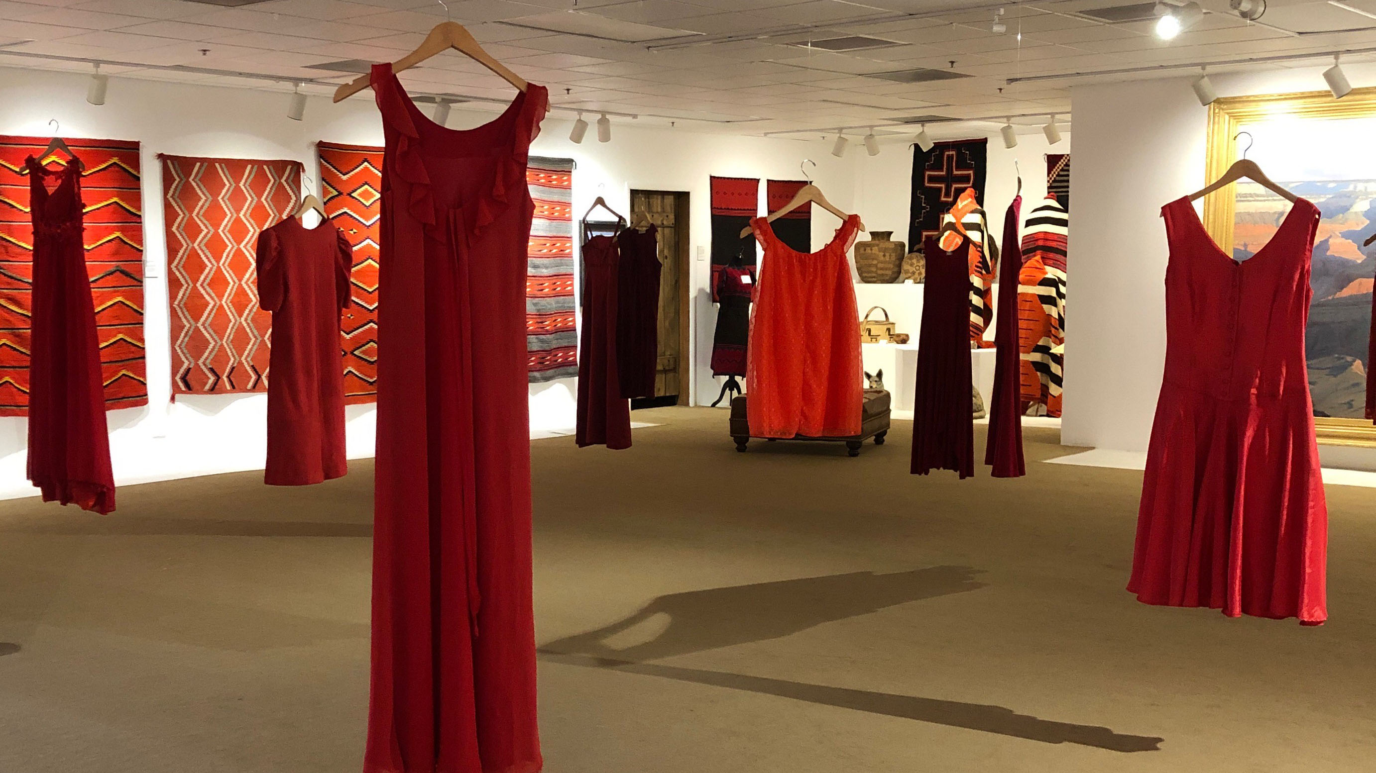 REDress Project gallery exhibit wide shot