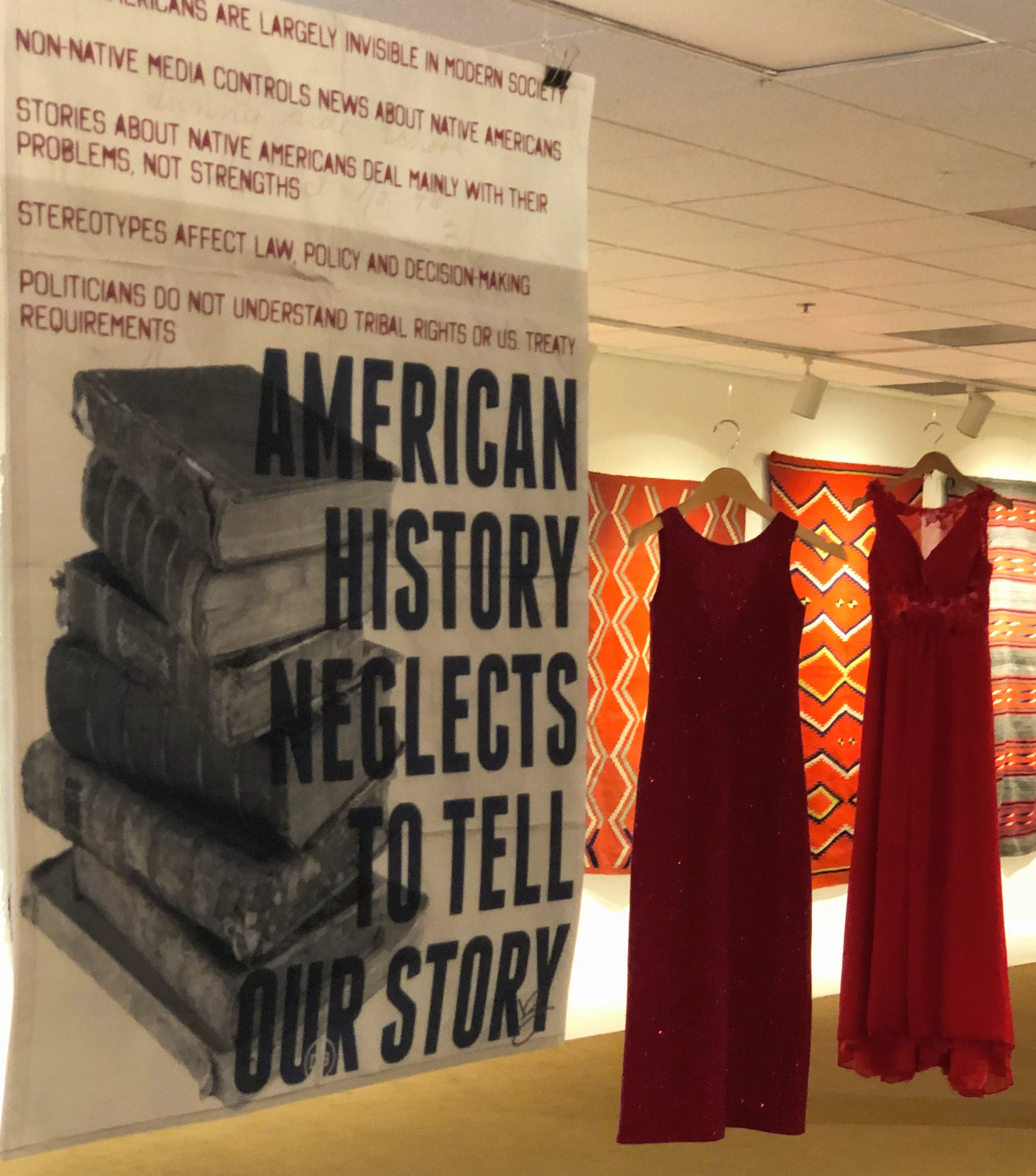 REDress Project gallery exhibit