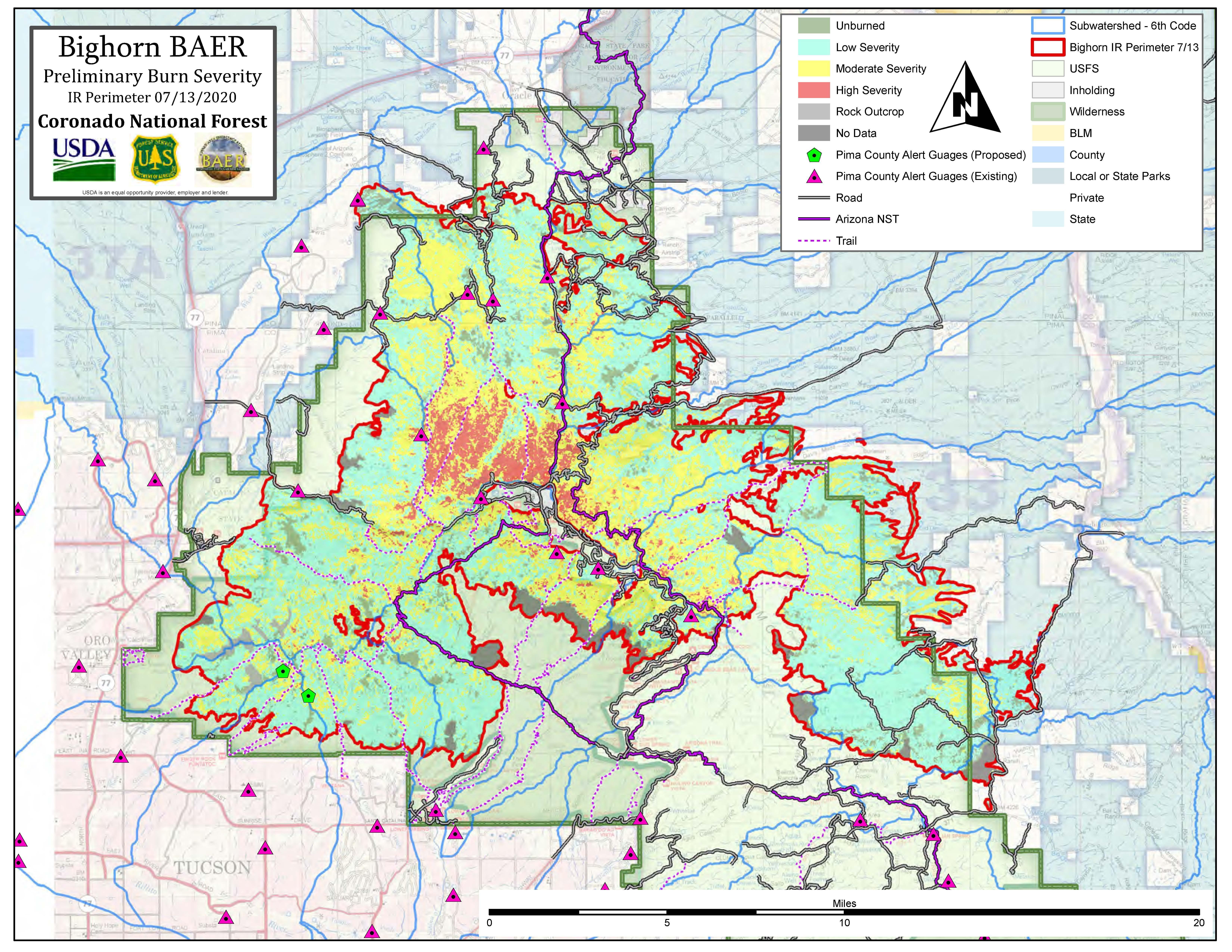Bighorn fire burn map