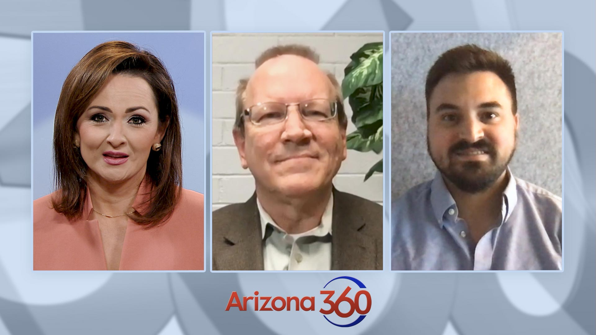 Arizona 360 host Lorraine Rivera, Green Valley News/Sahuarita Sun editor Dan Shearer and 1030 KVOI AM Tipping Point host Zach Yentzer. Nov. 12, 2020.