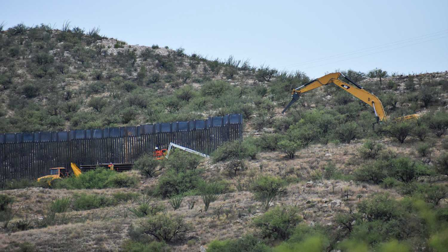 Thirty-foot-high border wall was installed along the border near Sasabe, Arizona, and Mexico in the summer of 2020.