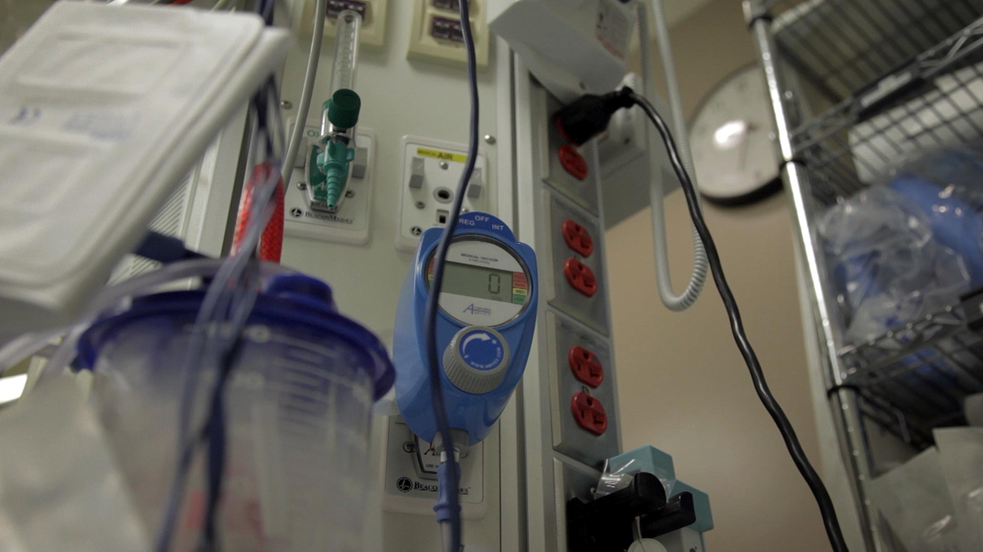 File image of equipment in a trauma room at a hospital in Tucson.