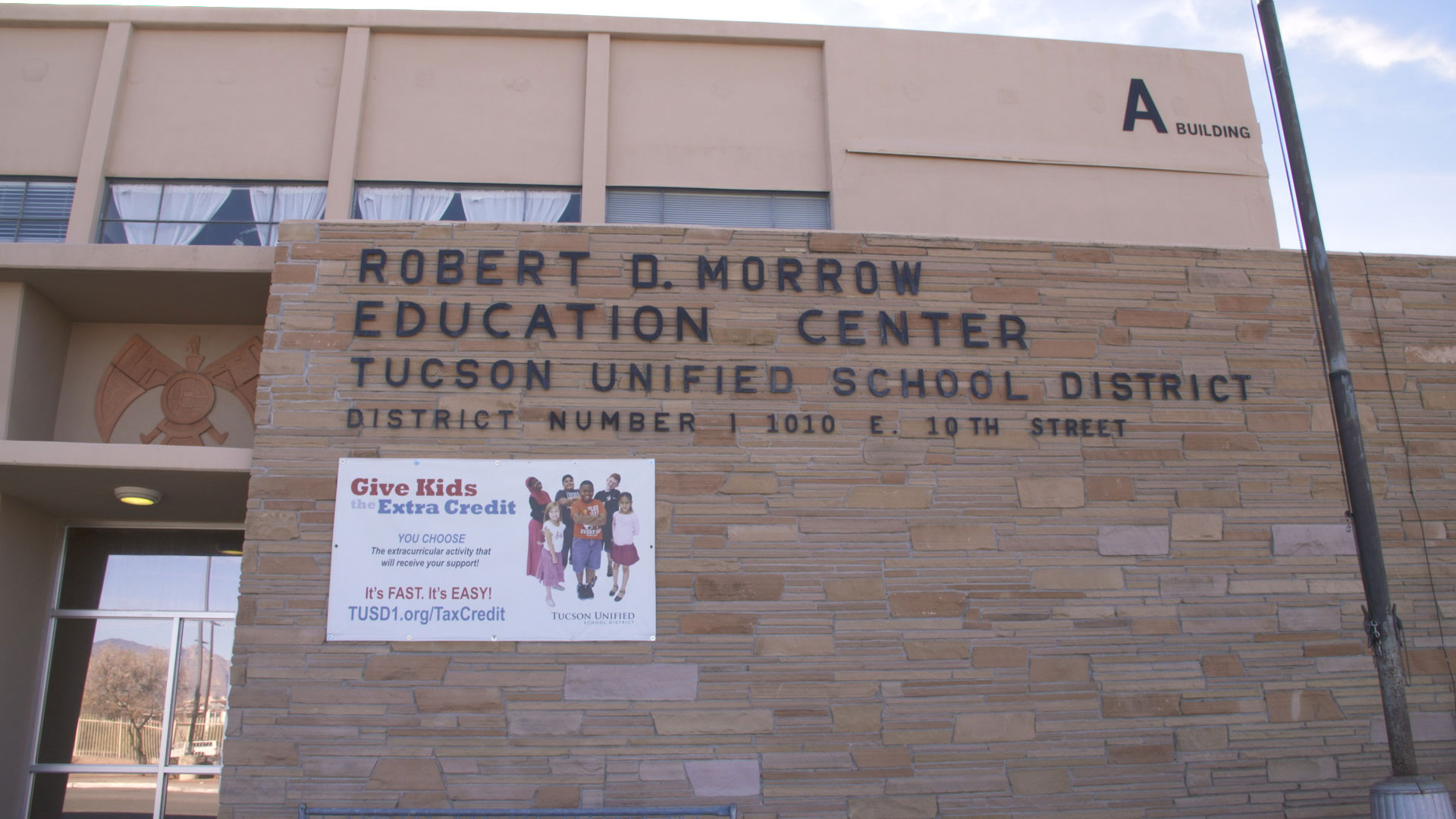 The Tucson Unified School District building.