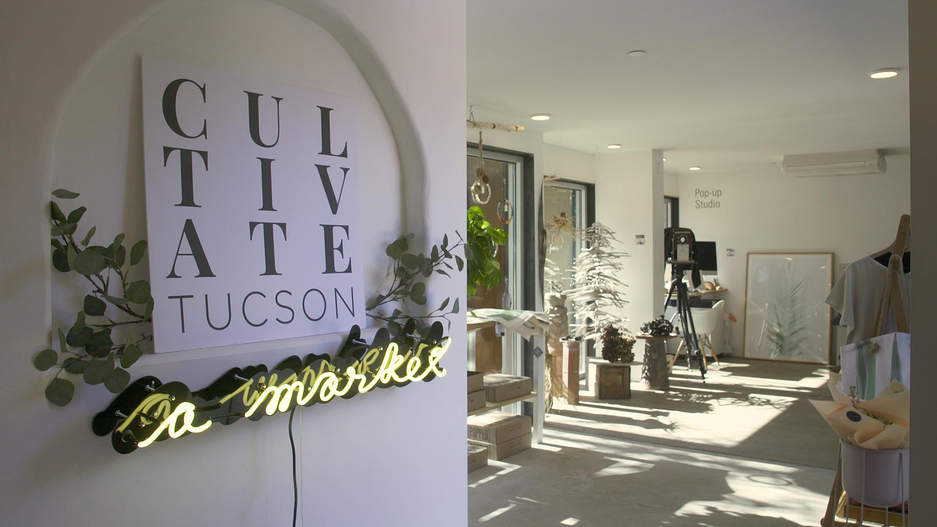 The pop-up marketplace CULTIVATE Tucson at the MSA Annex on Dec. 1, 2020.