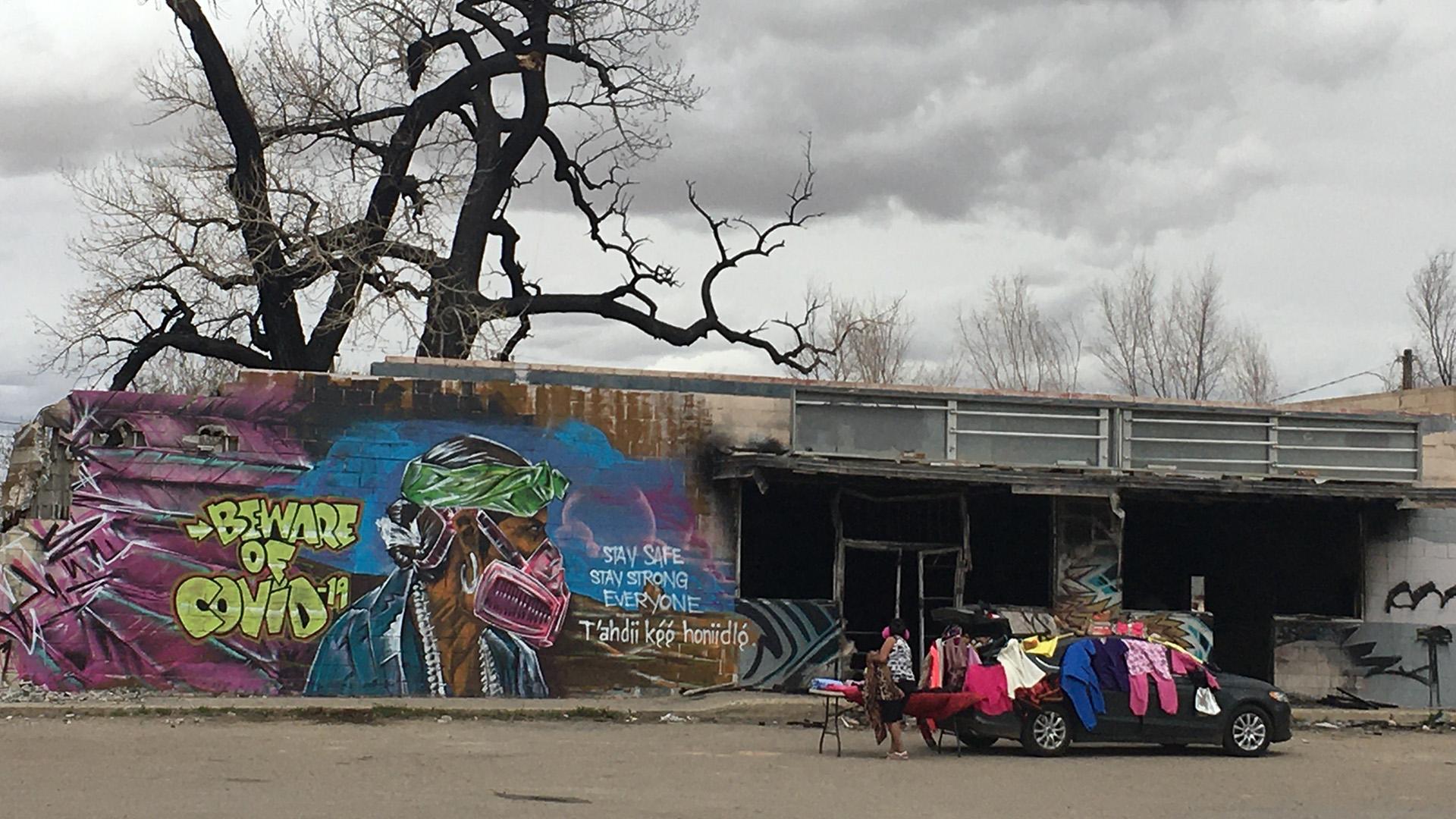 Navajo COVID mural