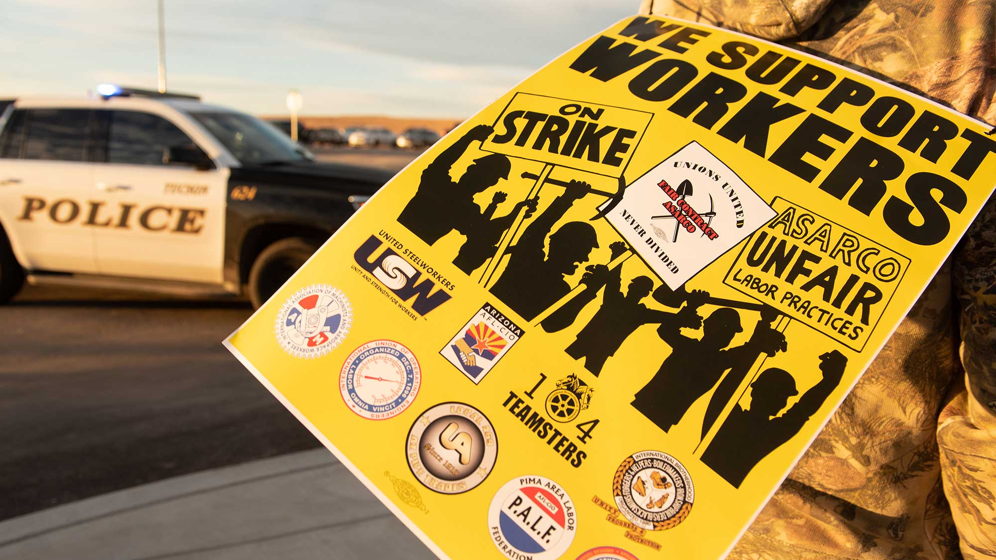 More than 1,700 workers from a number of unions have been on strike against Asarco copper mining and refining operations in Arizona and Texas for four months now.