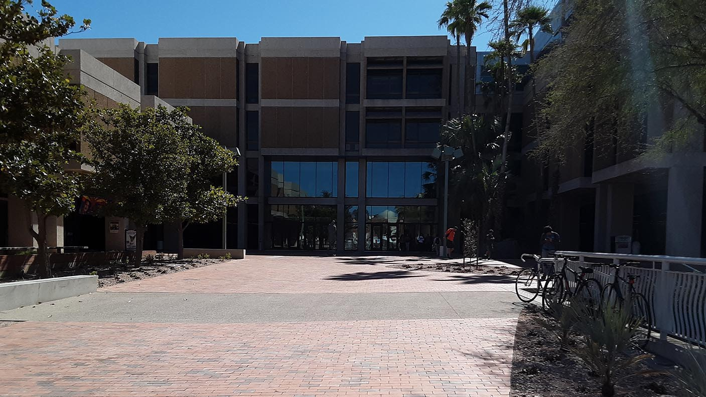 New north side entrance at the University of Arizona main library.
