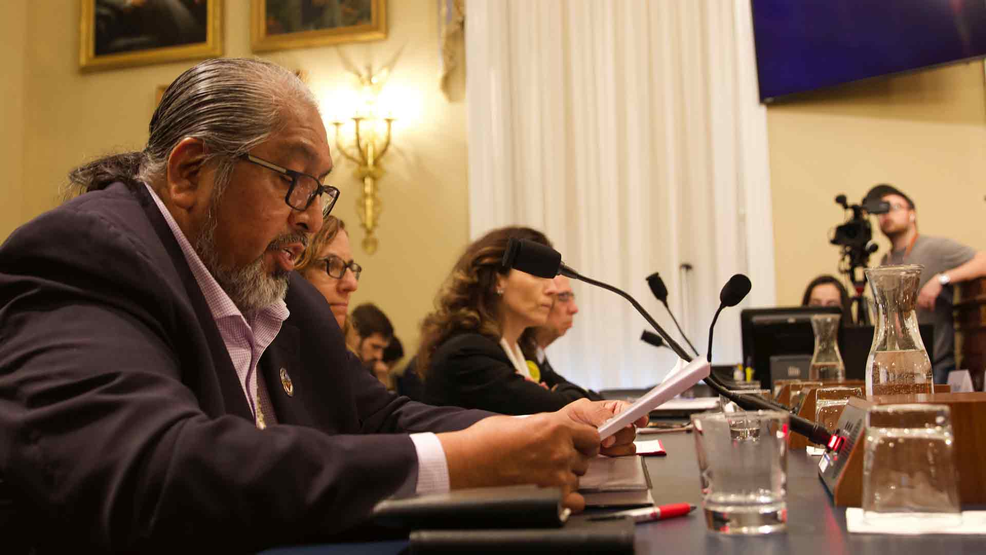 Tohono O'odham Chairman Ned Norris Jr. told a House subcommittee Wednesday, Feb. 26 the construction of a border wall on sacred sites was akin to building a wall in Arlington National Cemetery.