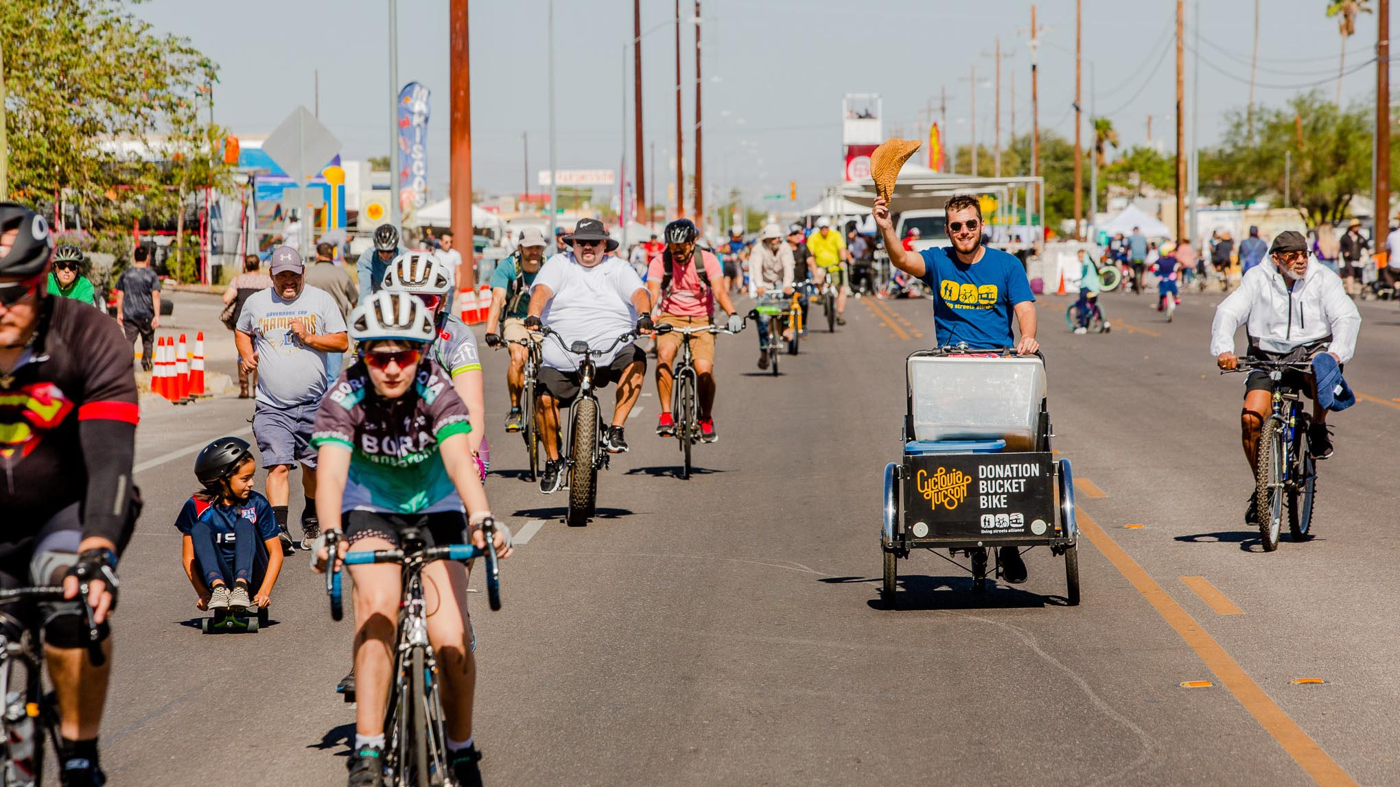 Tens of thousands of Tucsonans took part in Cyclovia, October 2019.