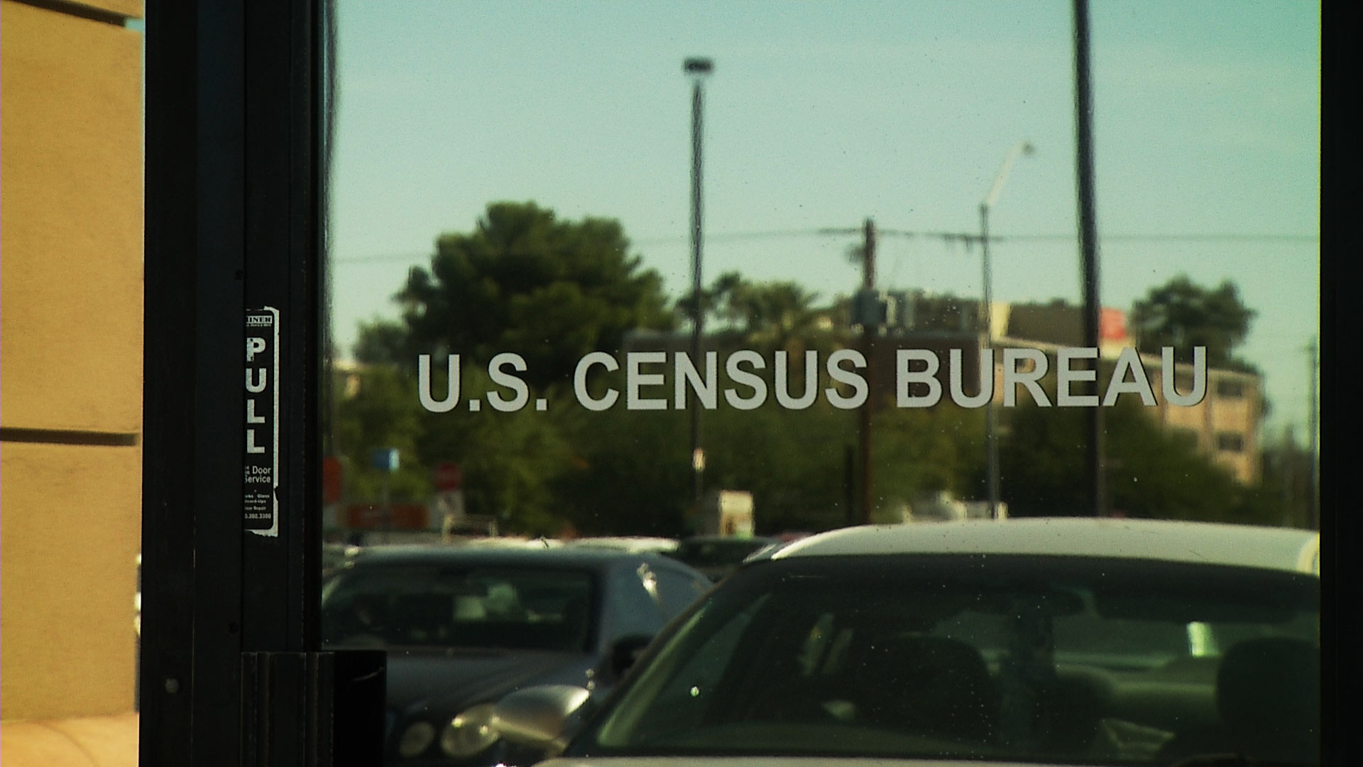 The entrance to the U.S. Census Bureau's office in Tucson.