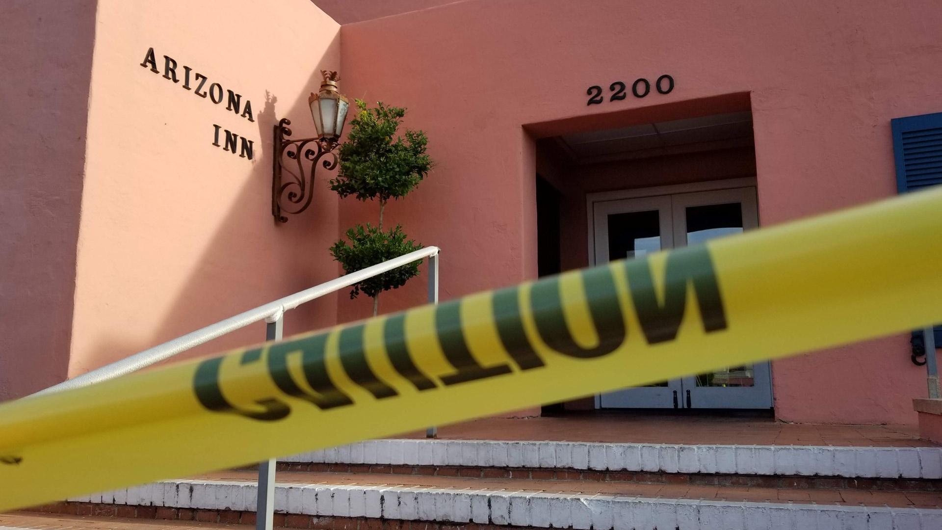 Arizona Inn coronavirus closure tape