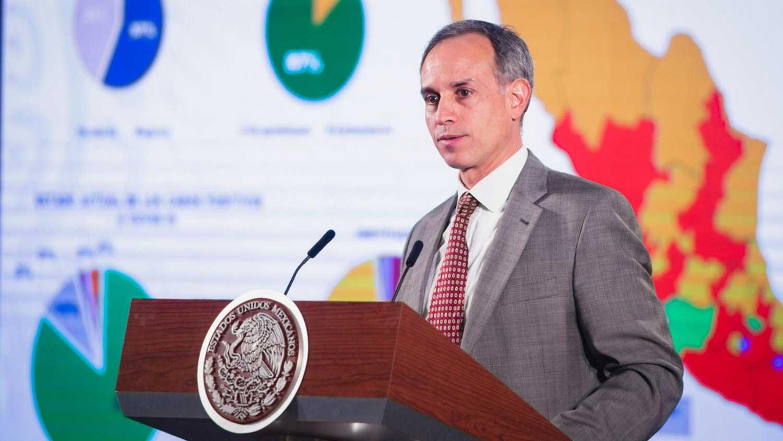 Hugo López-Gatell, Mexico's undersecretary of health, presenting updates on the coronavirus pandemic.