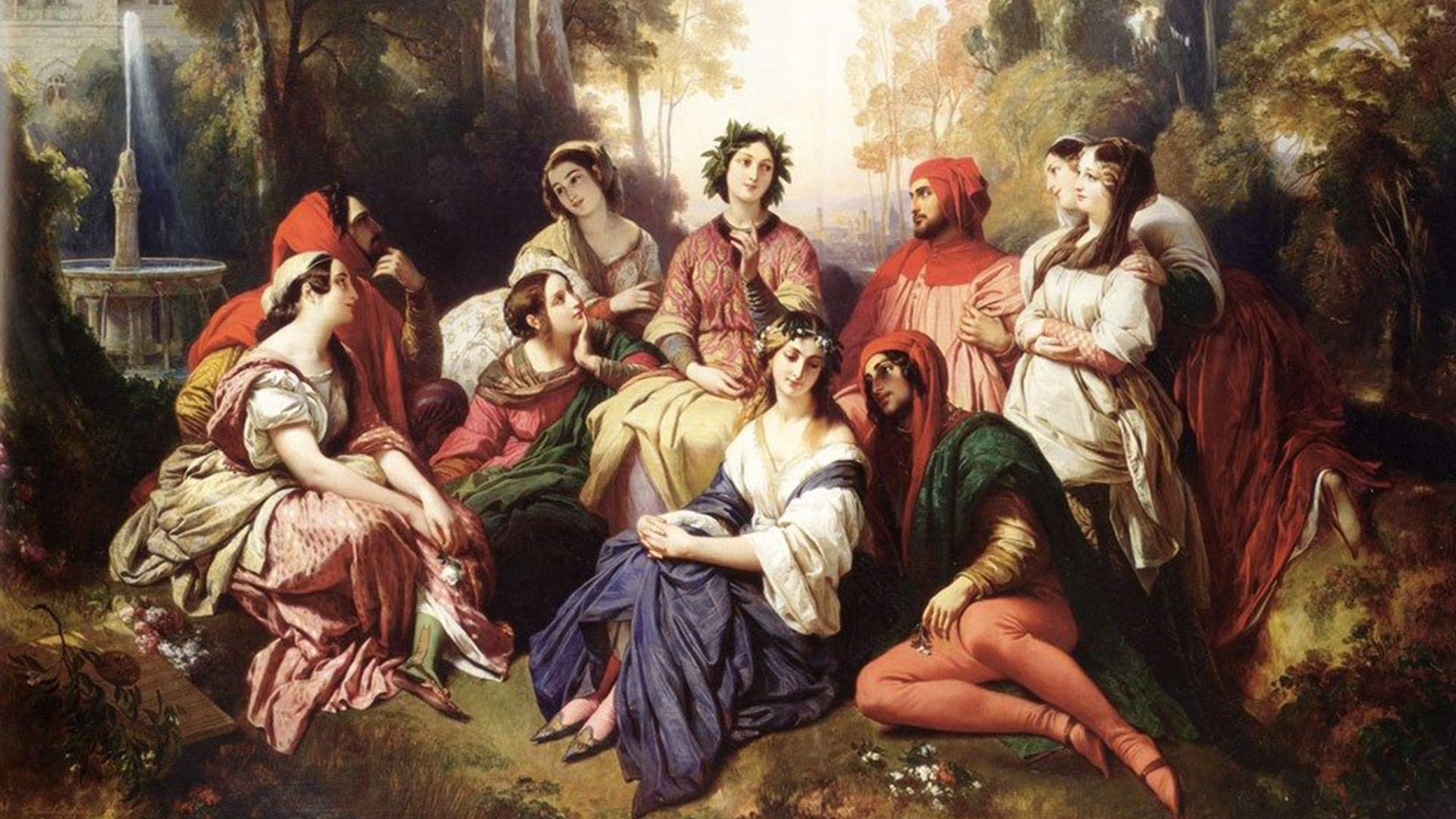 """The Decameron"" by Franz Xaver Winterhalter."