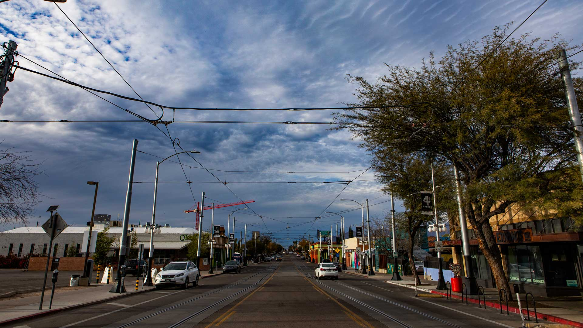 Fourth Avenue, an important commercial and entertainment hub in Tucson, is quiet on Sunday, March 22.