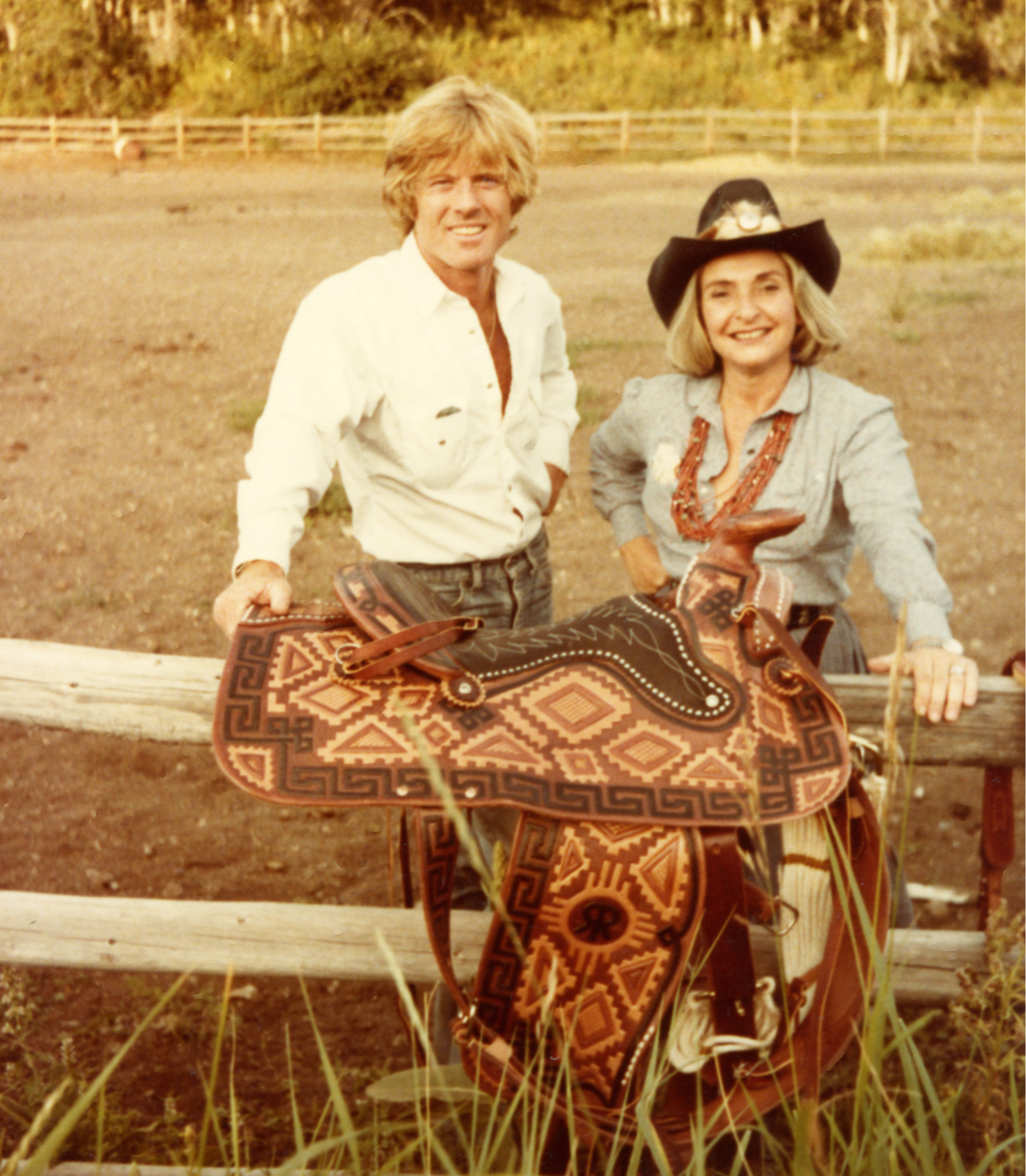 elaine horwitch with robert redford unsized image