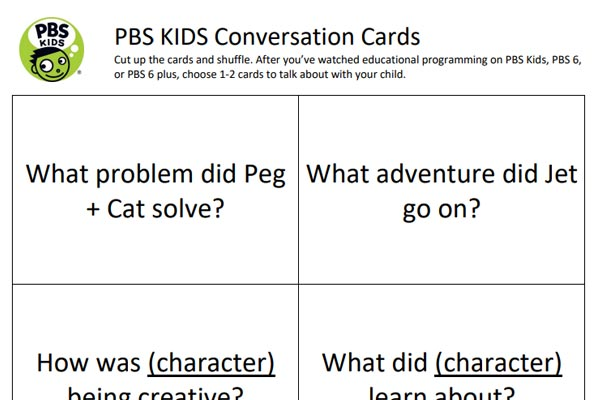 PBS Kids Conversation Cards