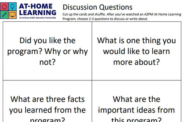 At Home Learning Discussion Questions