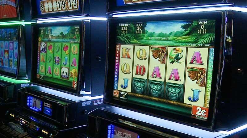 Slot machines in casino.