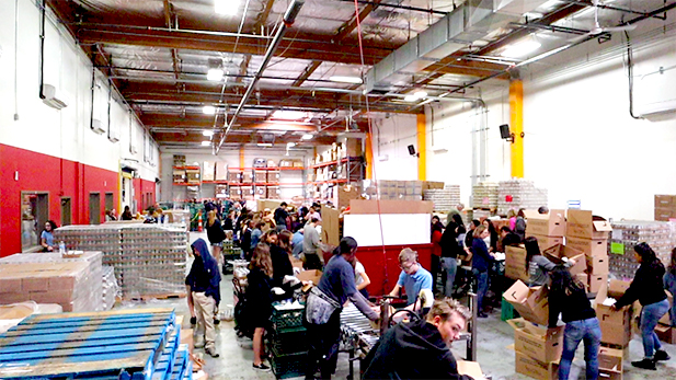 Food bank before the pandemic