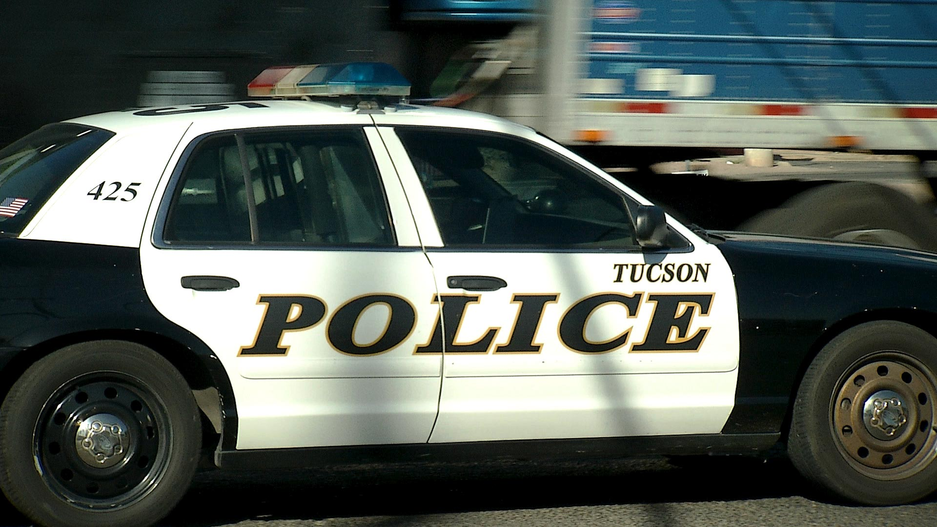 A Tucson Police car on patrol.