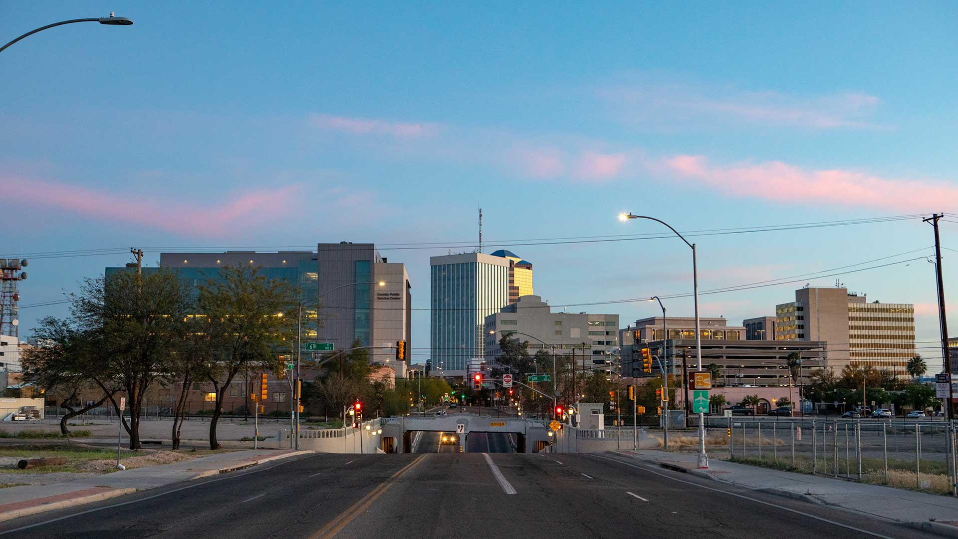 A view of downtown Tucson from Stone Avenue, March 30.