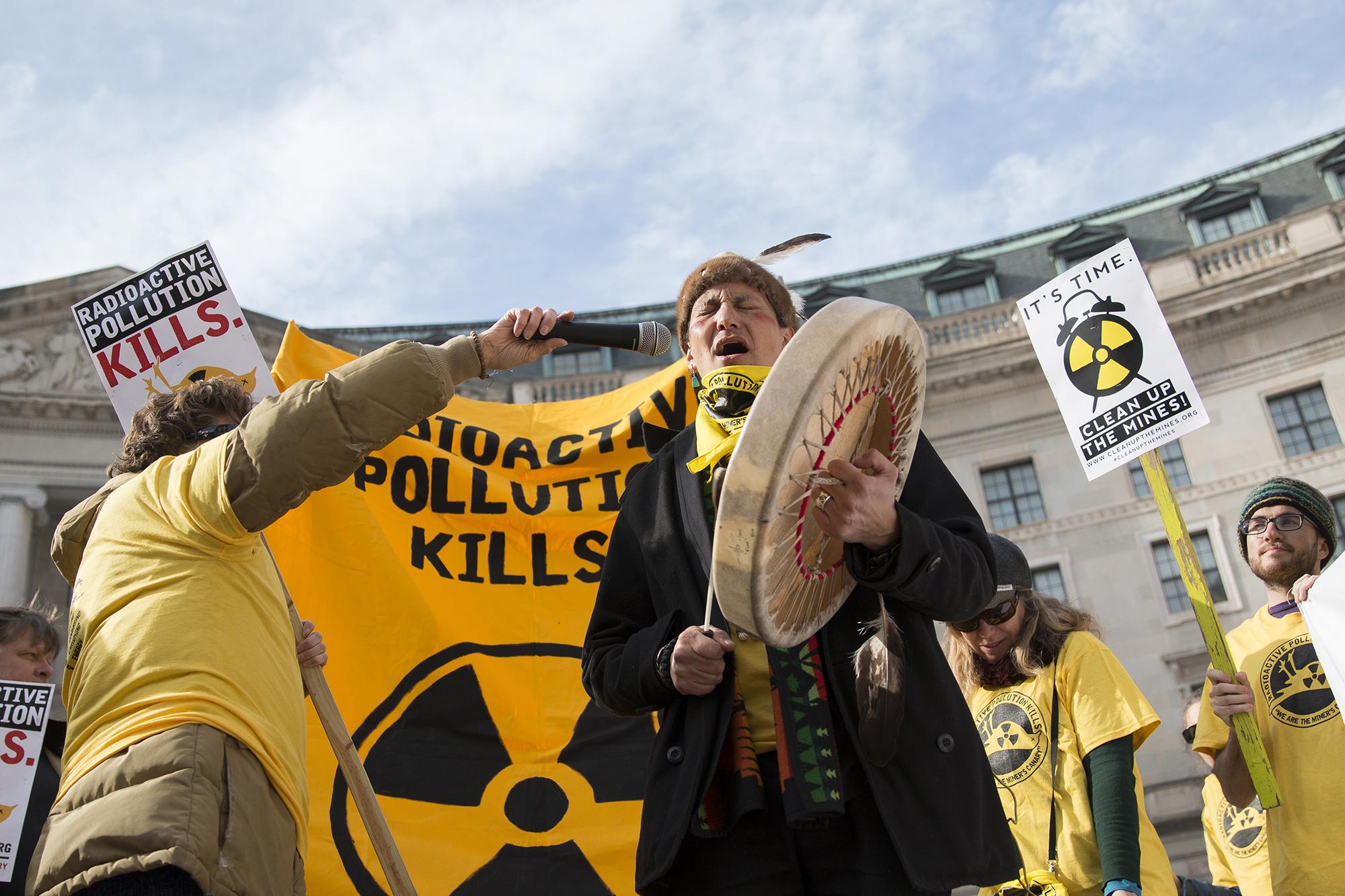 uranium protesters