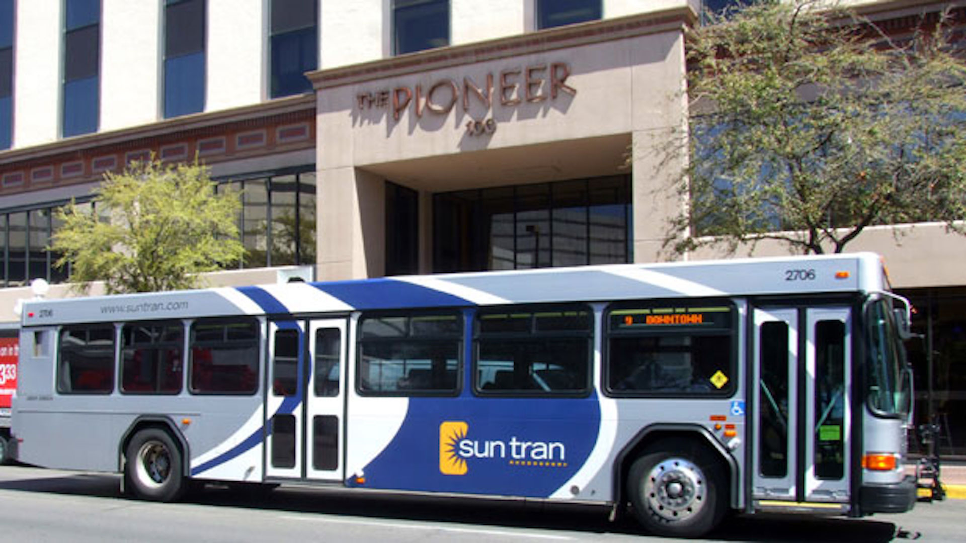 Sun Tran bus in downtown Tucson.
