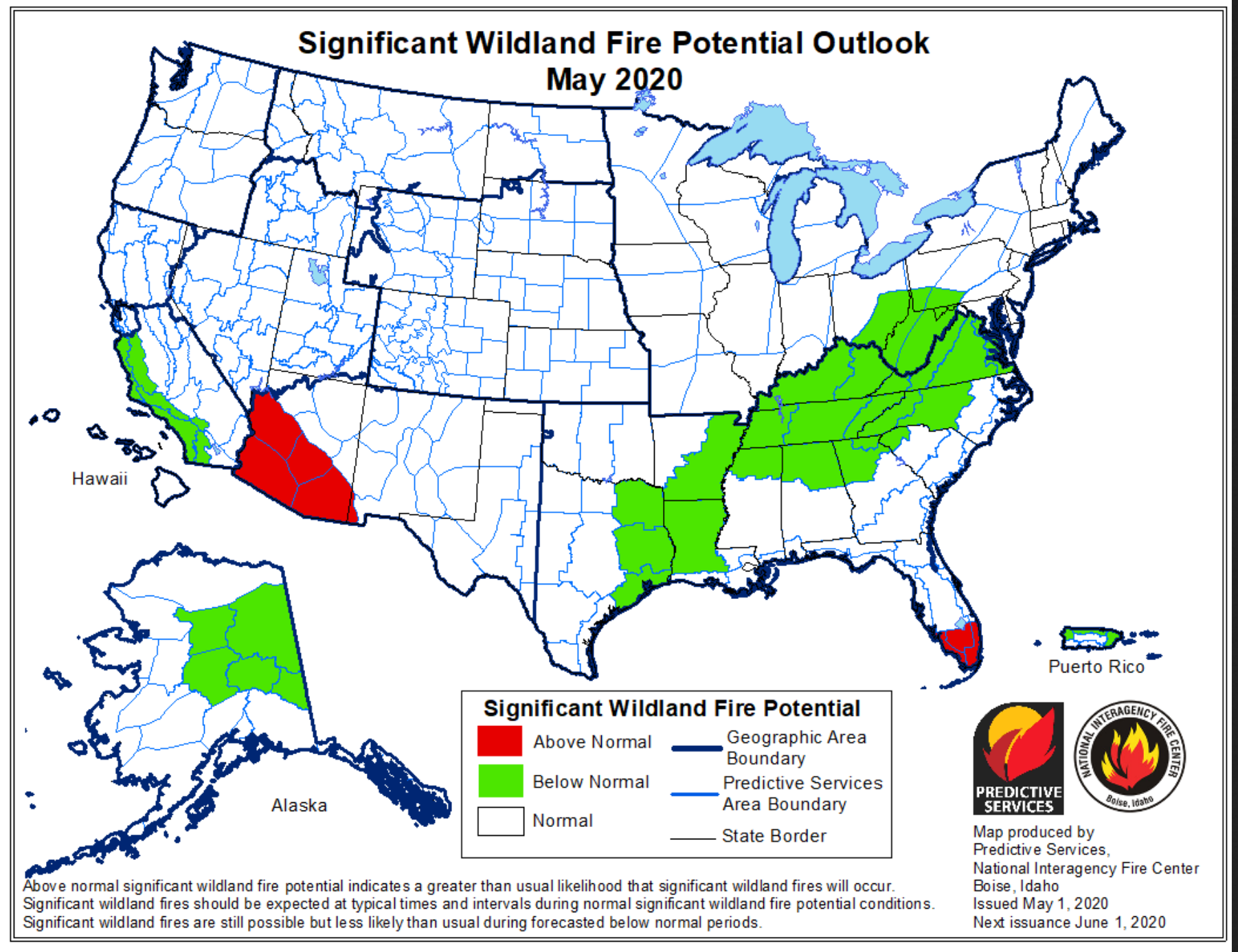 Wildfire conditions 2020