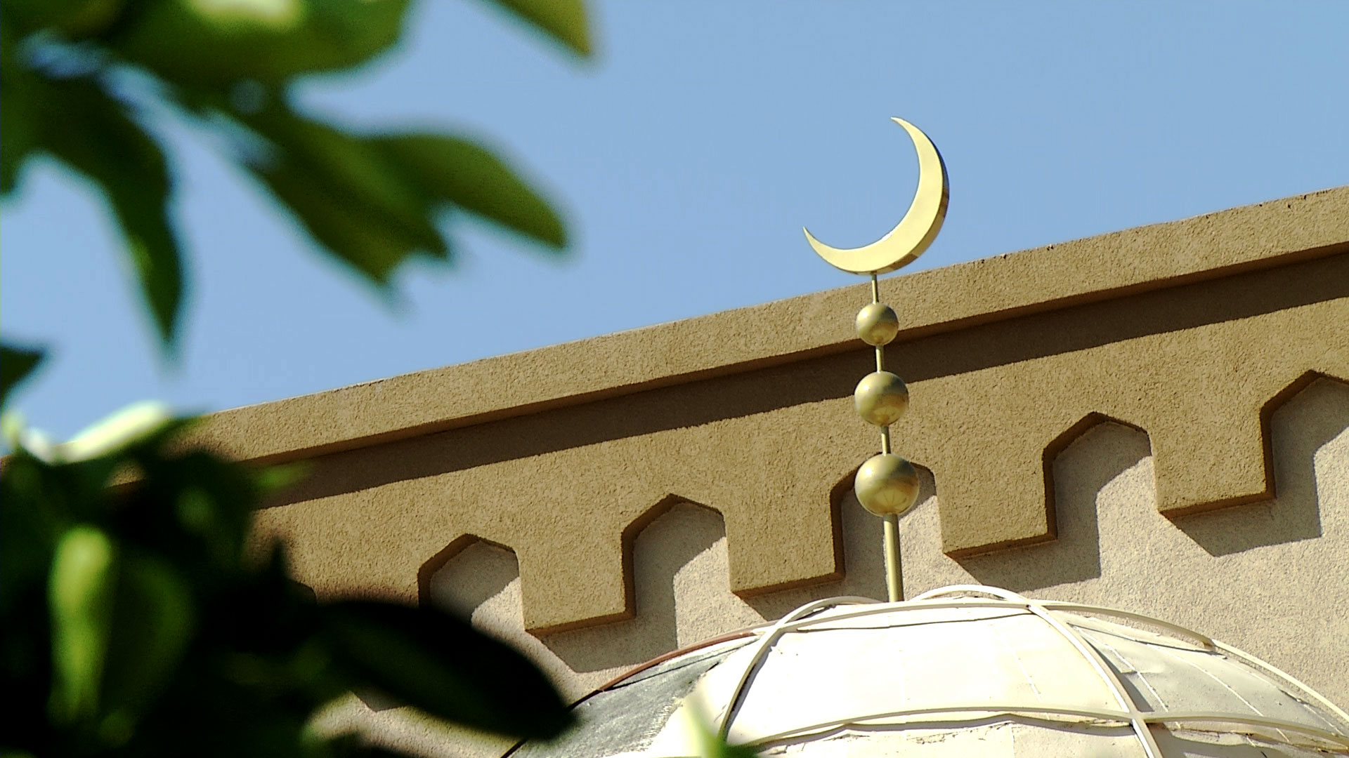 The top of the Muslim Community Center of Tucson. May 2020.