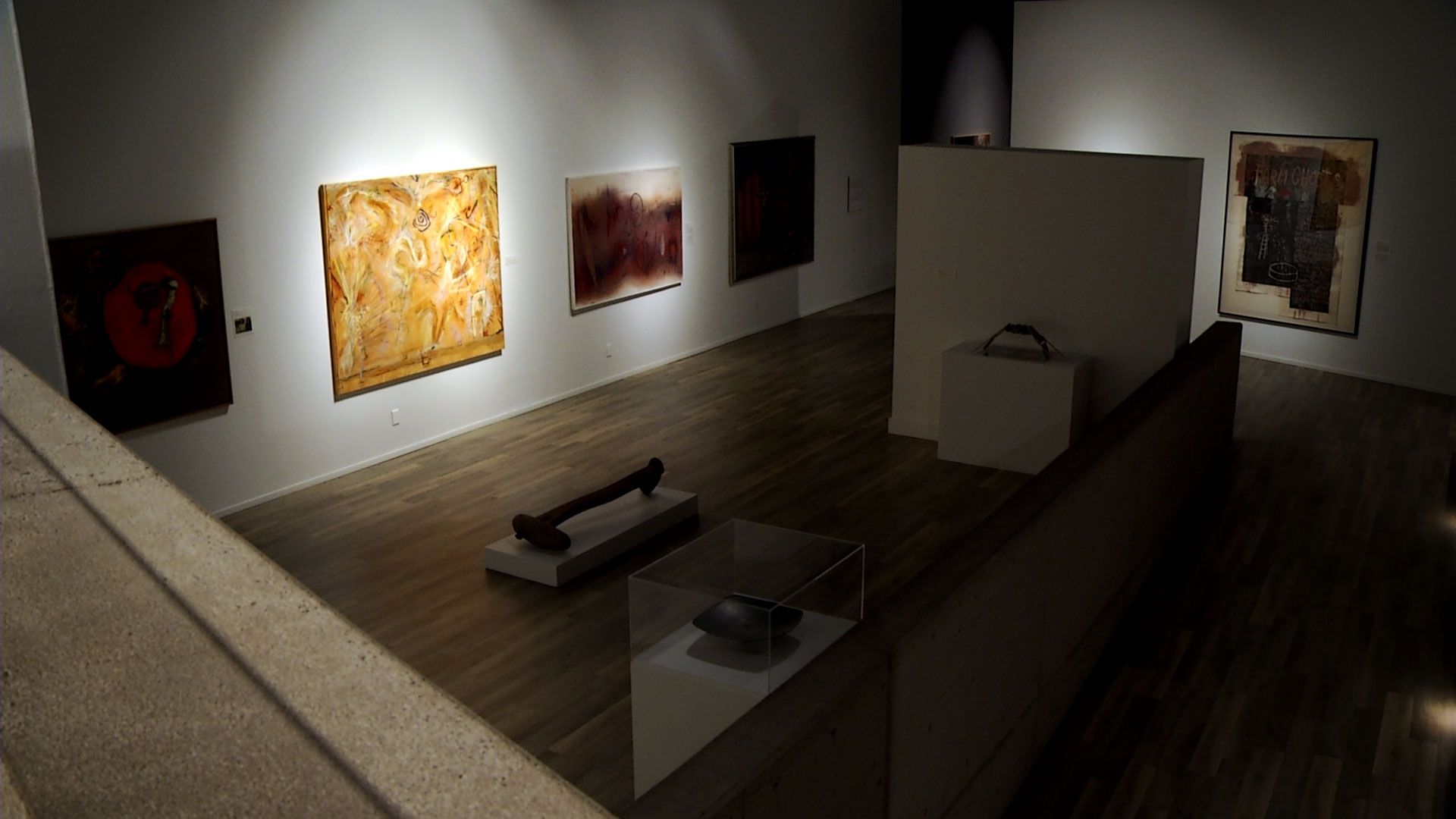 An empty gallery at the Tucson Museum of Art in May 2020. The museum closed to visitors as a result of the COVID-19 pandemic.