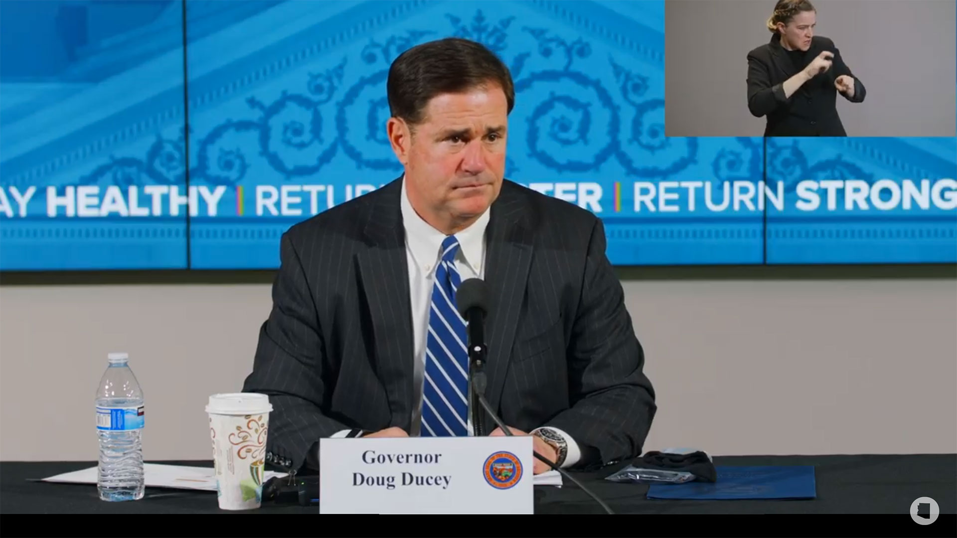 Gov. Doug Ducey at a press conference on June 11, 2020.