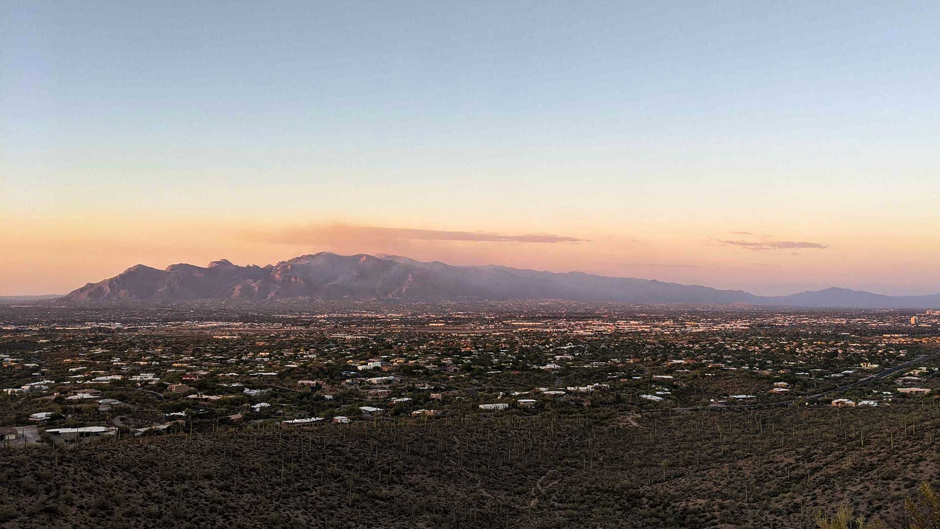 Smoke drifts from the Bighorn Fire in the Santa Catalina mountains, June 11, 2020.