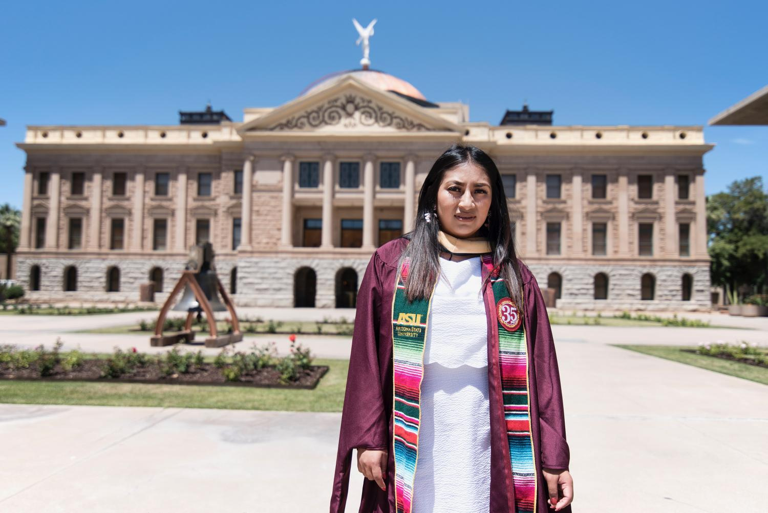 Blanca Sierra Reyes, 27, applied for DACA eight years ago and has renewed every two years since. She graduated with a master's degree in social work from ASU in spring 2019, an achievement she said would not have been possible without DACA.