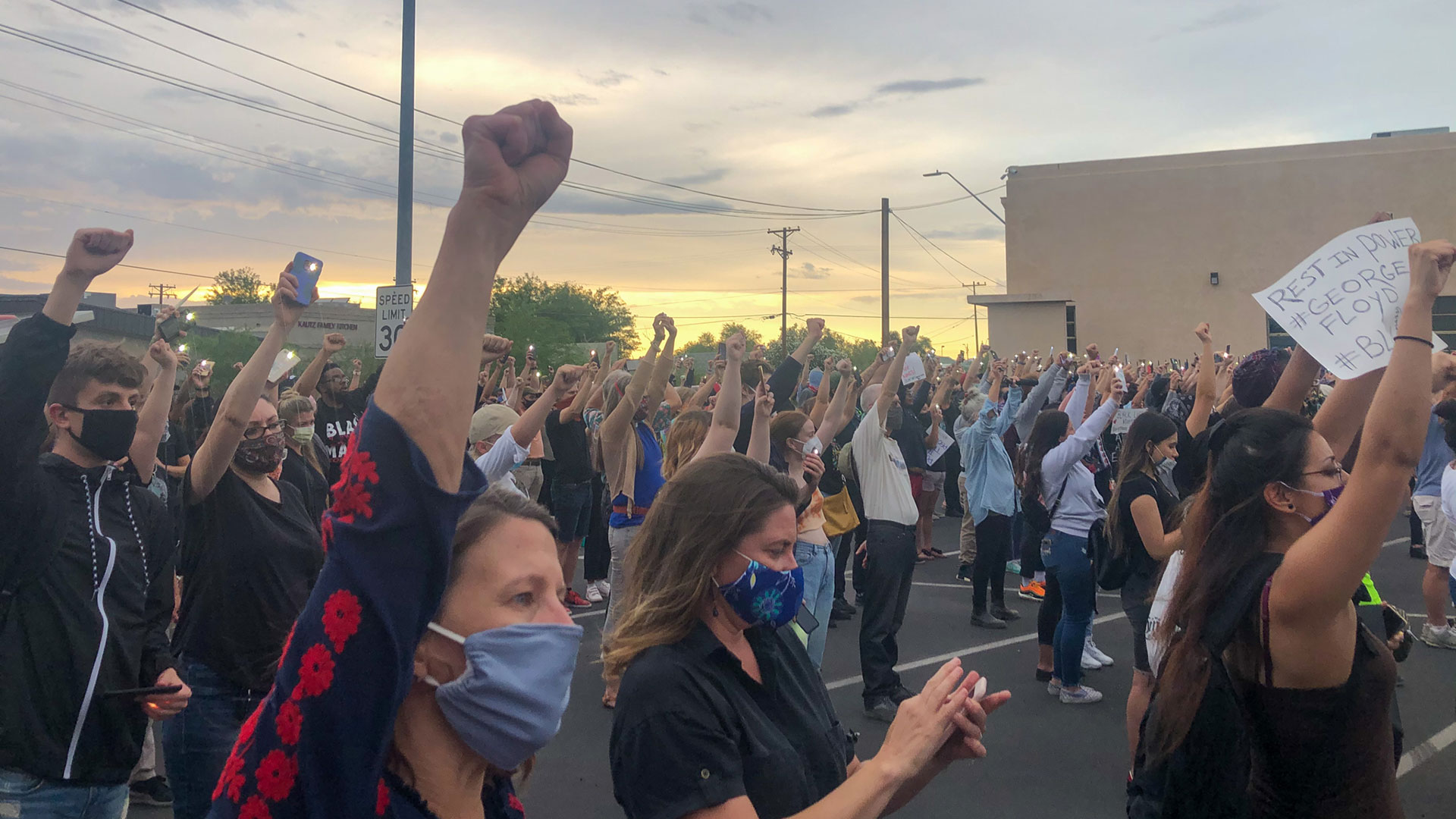 About 500 Tucsonans attended a vigil for George Floyd and other black people killed by police on June 1, 2020.