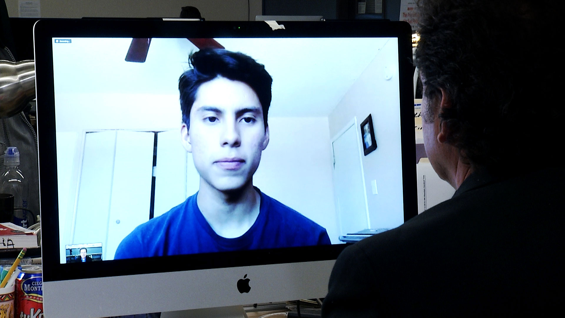 AZPM's Tony Paniagua interviews Darian Benitez Sanchez over Zoom on June 22, 2020. The Phoenix teen hopes to apply for DACA, the Deferred Action for Childhood Arrivals program that protects immigrants brought illegally to the U.S. as children from deportation.