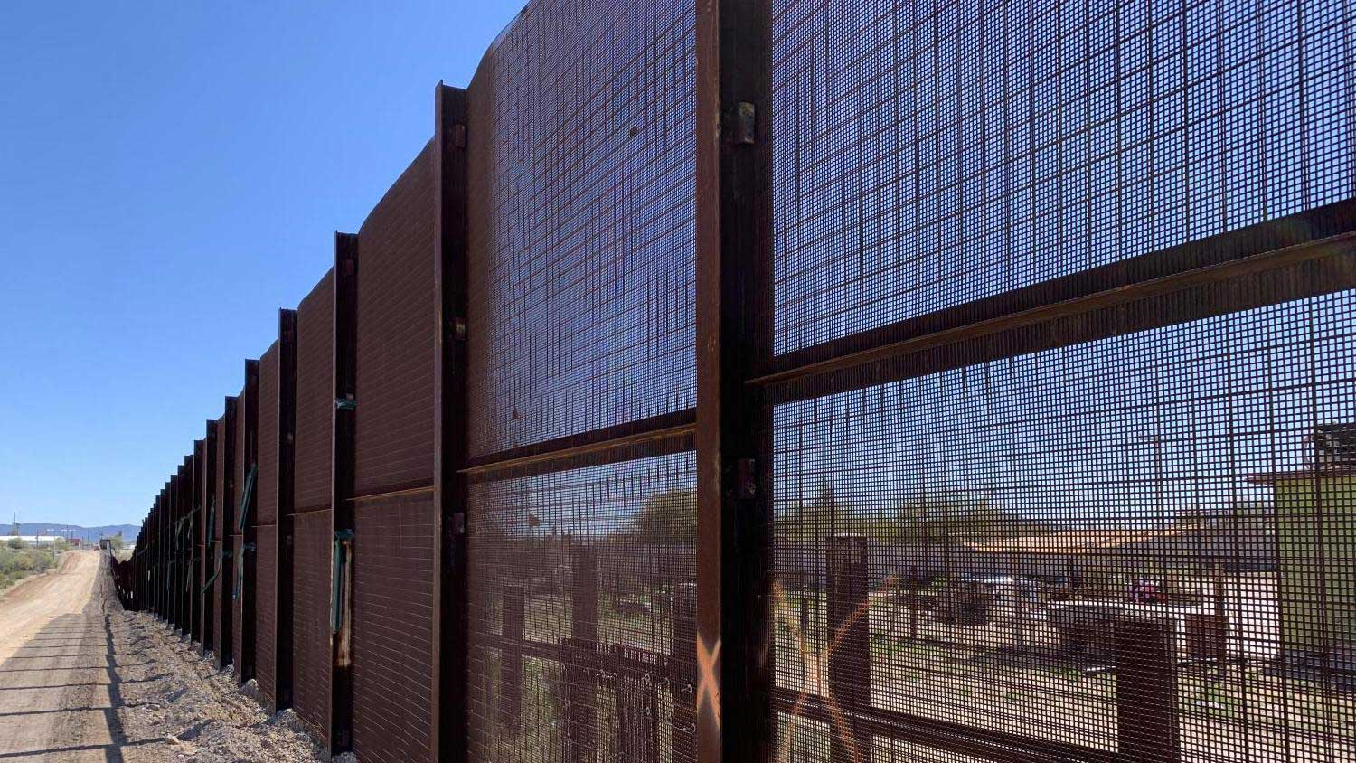 This border screen system installed in Organ Pipe Cactus National Monument was being replaced in 2020 with a 30-foot-high bollard border wall because Border Patrol officials said it was being cut through. Now the new border wall is also being breached.