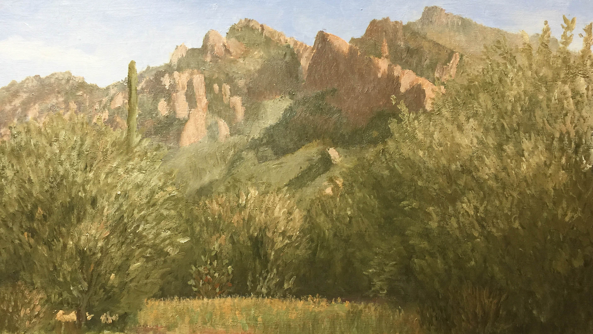 """Push Ridge"", oil painting by TurningBear, a member of The Aphasia Center of Tucson."