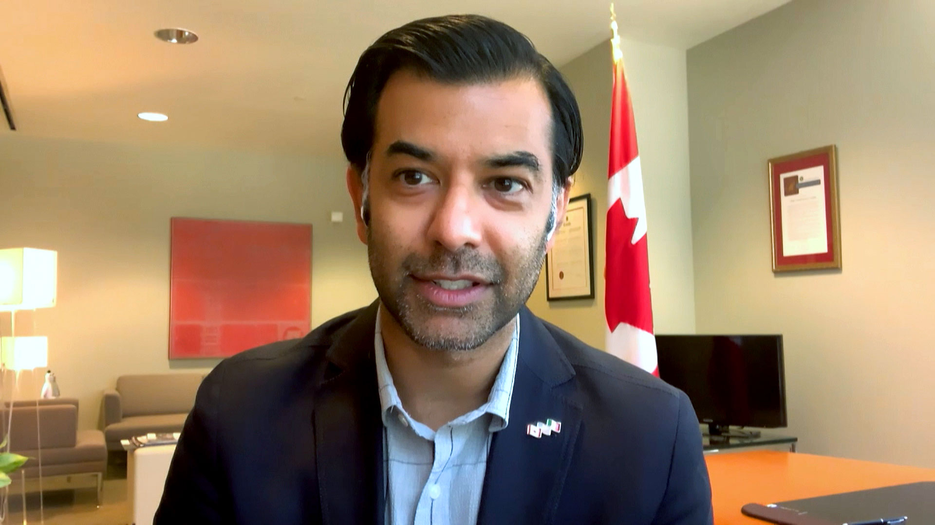Canadian Consul General of Los Angeles Zaib Shaikh during an interview with Arizona 360 on July 8, 2020.