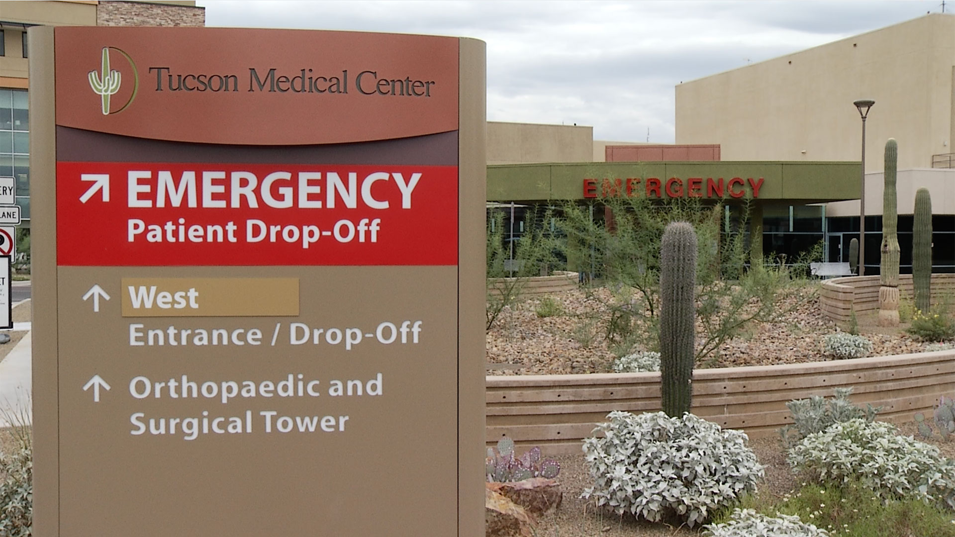 A sign in front of the Tucson Medical Center.