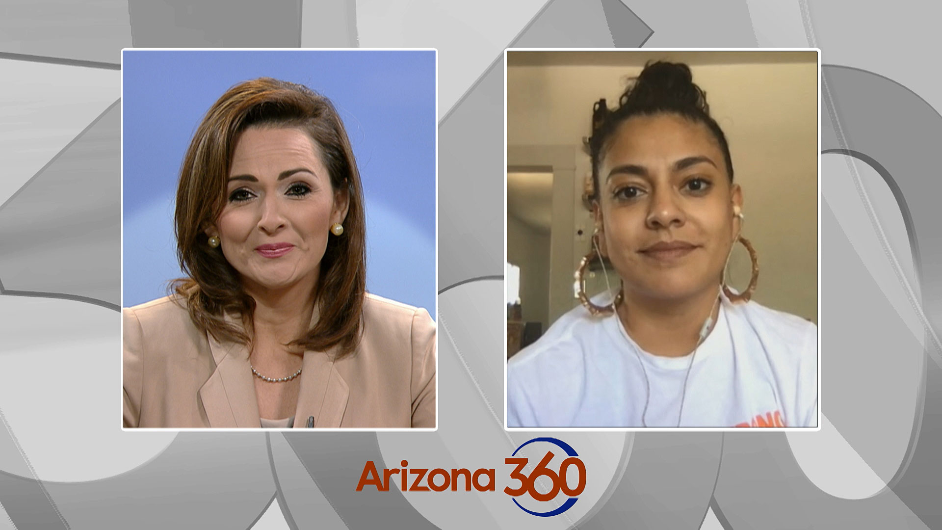 Tucson City Council member Lane Santa Cruz during a Zoom interview with Arizona 360 host Lorraine Rivera on July 22, 2020.