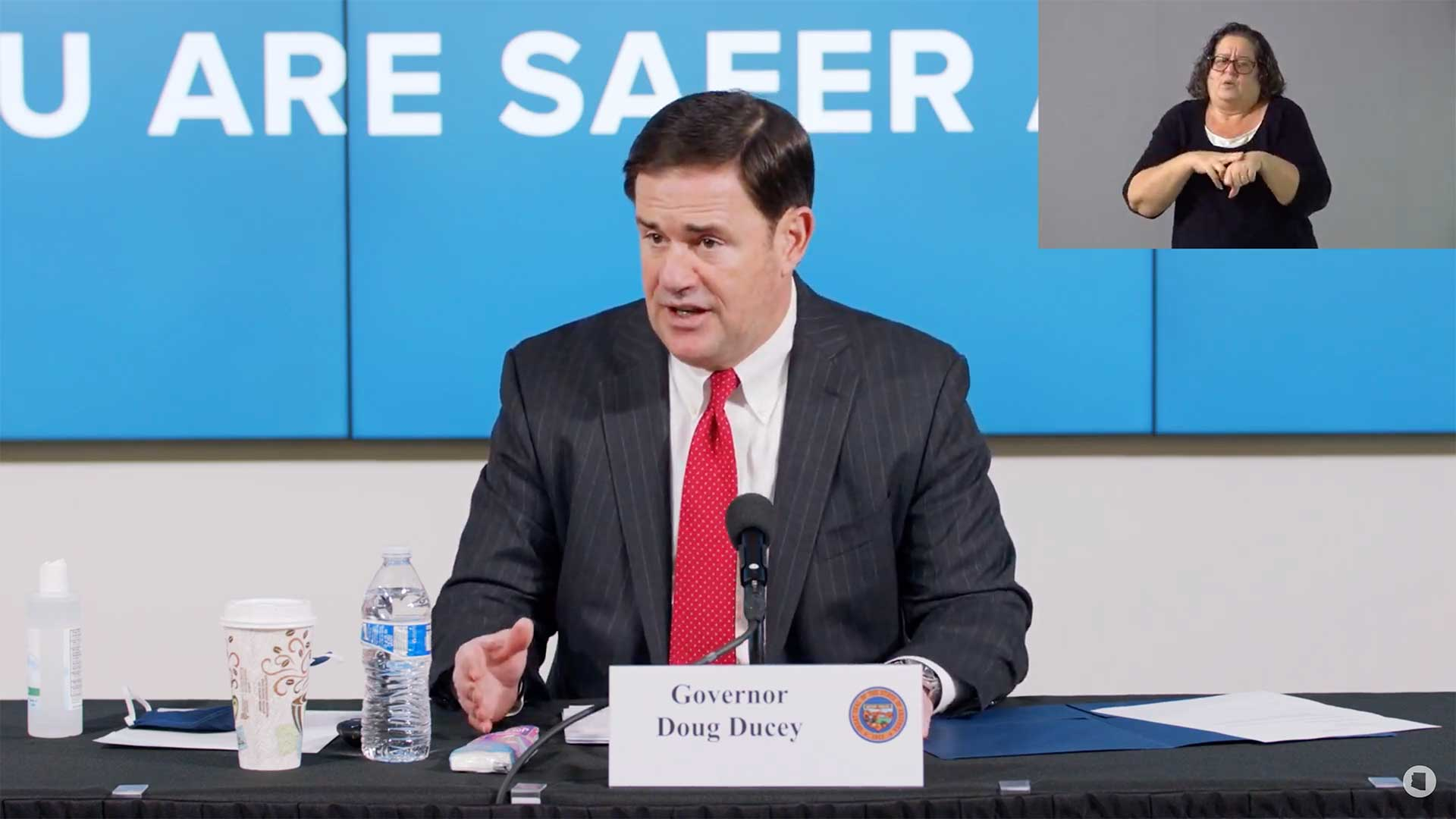Gov. Doug Ducey at July 30 update on Arizona's response to the COVID-19 pandemic.