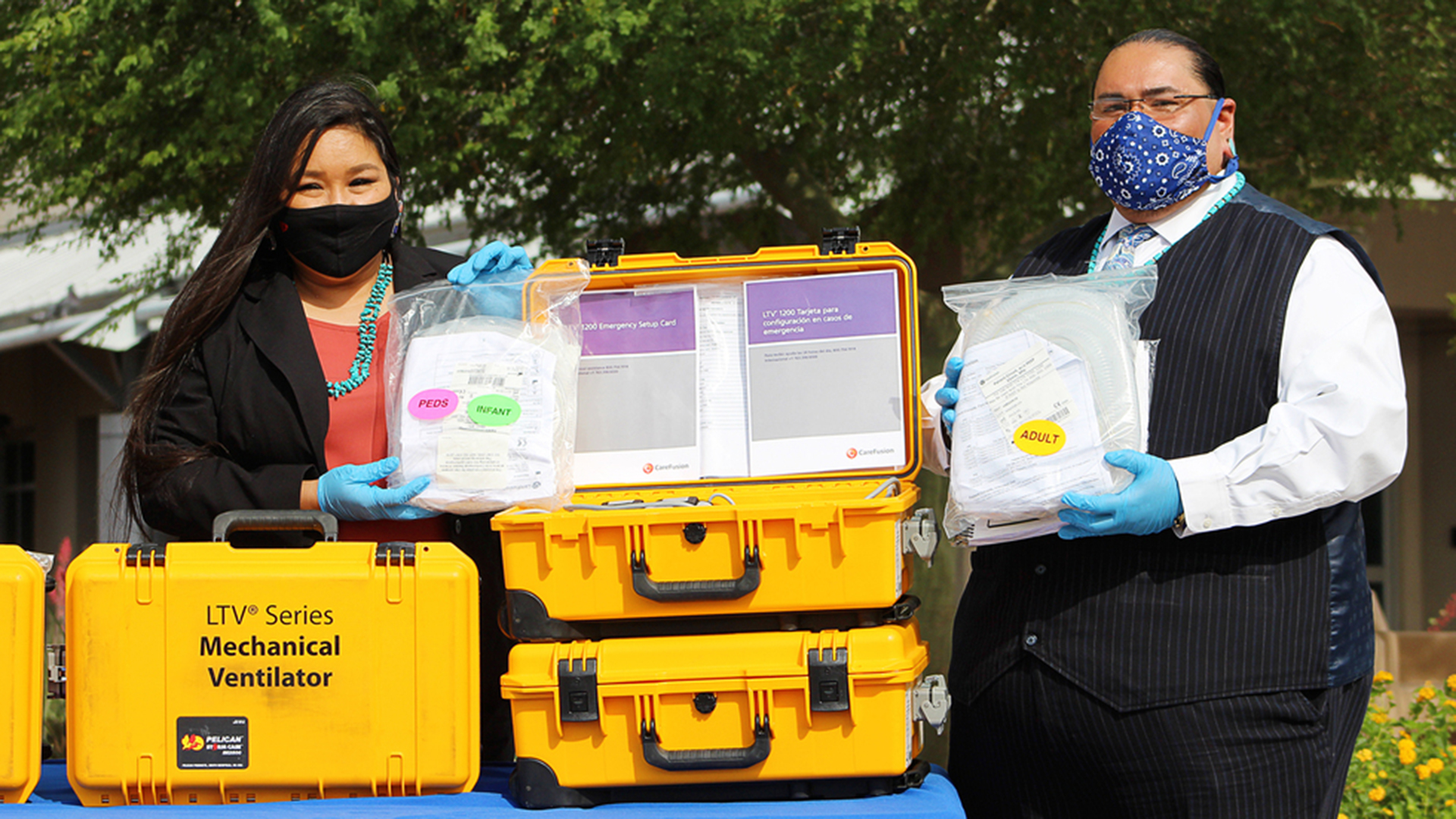 The Cocopah and Quechan Indian tribes donated ventilators they received from the Strategic National Stockpile to Yuma Regional Medical Center during the COVID-19 pandemic May 14, 2020.