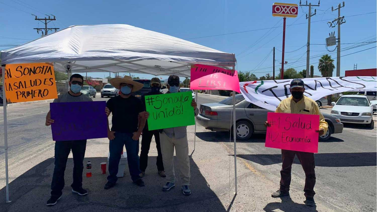 Demonstrators in Sonoyta, Sonora, are blocking southbound tourists from entering Mexico at the Lukeville-Sonoyta port of entry over coronavirus concerns.