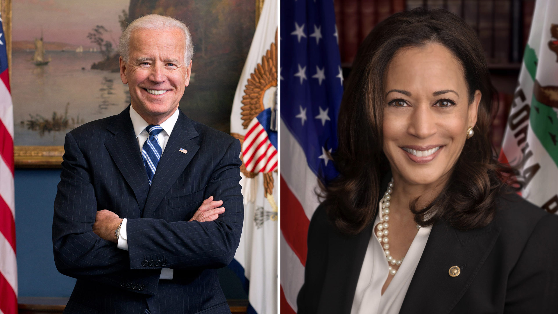 Democratic Presidential nominee Joe Biden (left) has selected Senator Kamala Harris (right) as his running mate.
