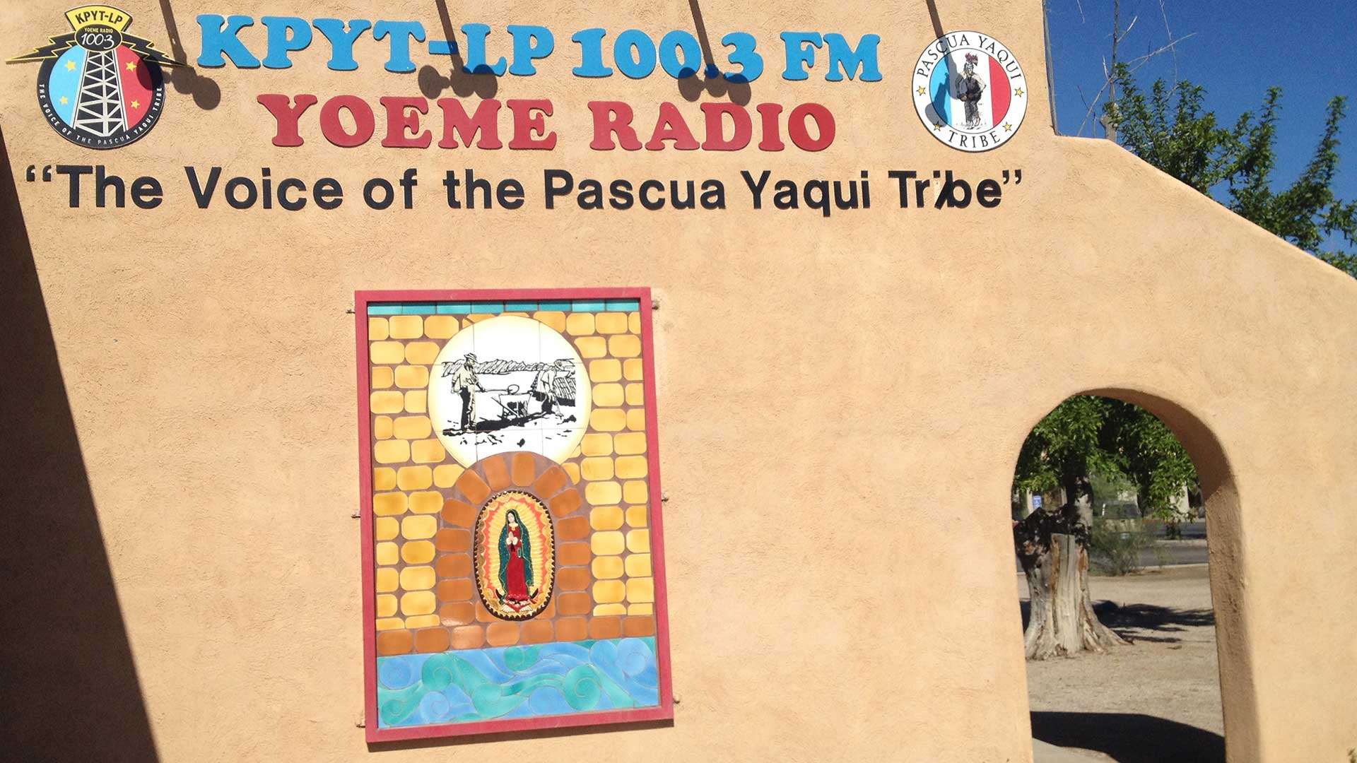 The radio station in the Pascua Yaqui Tribe's reservation.