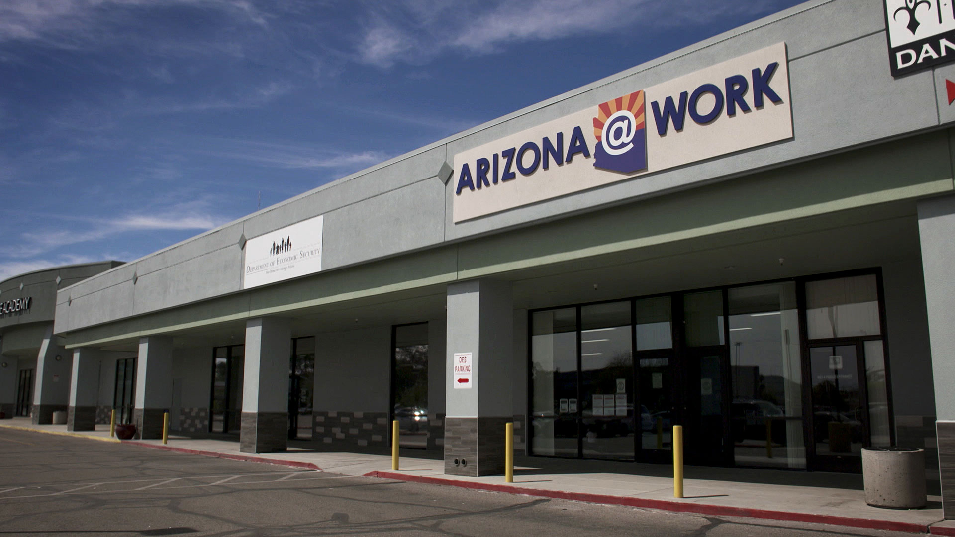 An office for the Arizona Department of Economic Security in Tucson. March 2020.