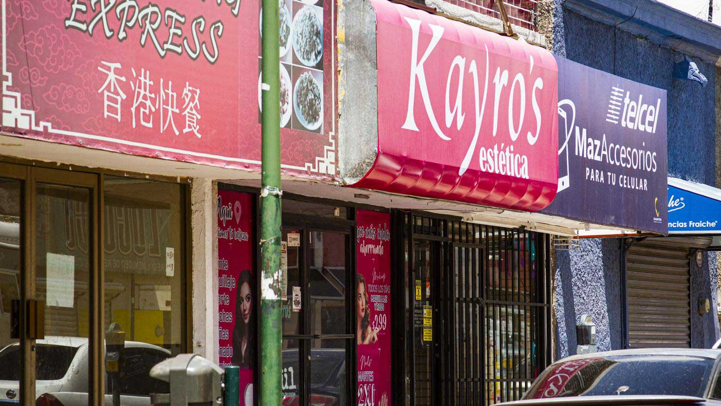 The downtown location of Paty López's family beauty business Kayros is one of two that have closed so far. The other four are teetering, she said.
