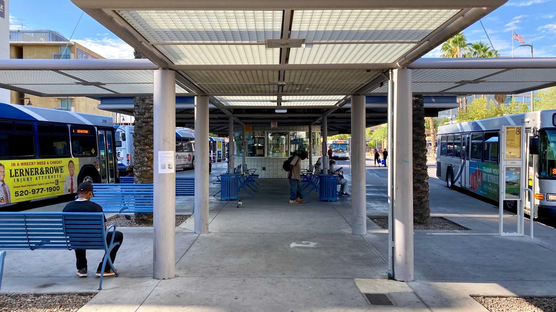The Ronstadt Transit Center on August 1, 2020.