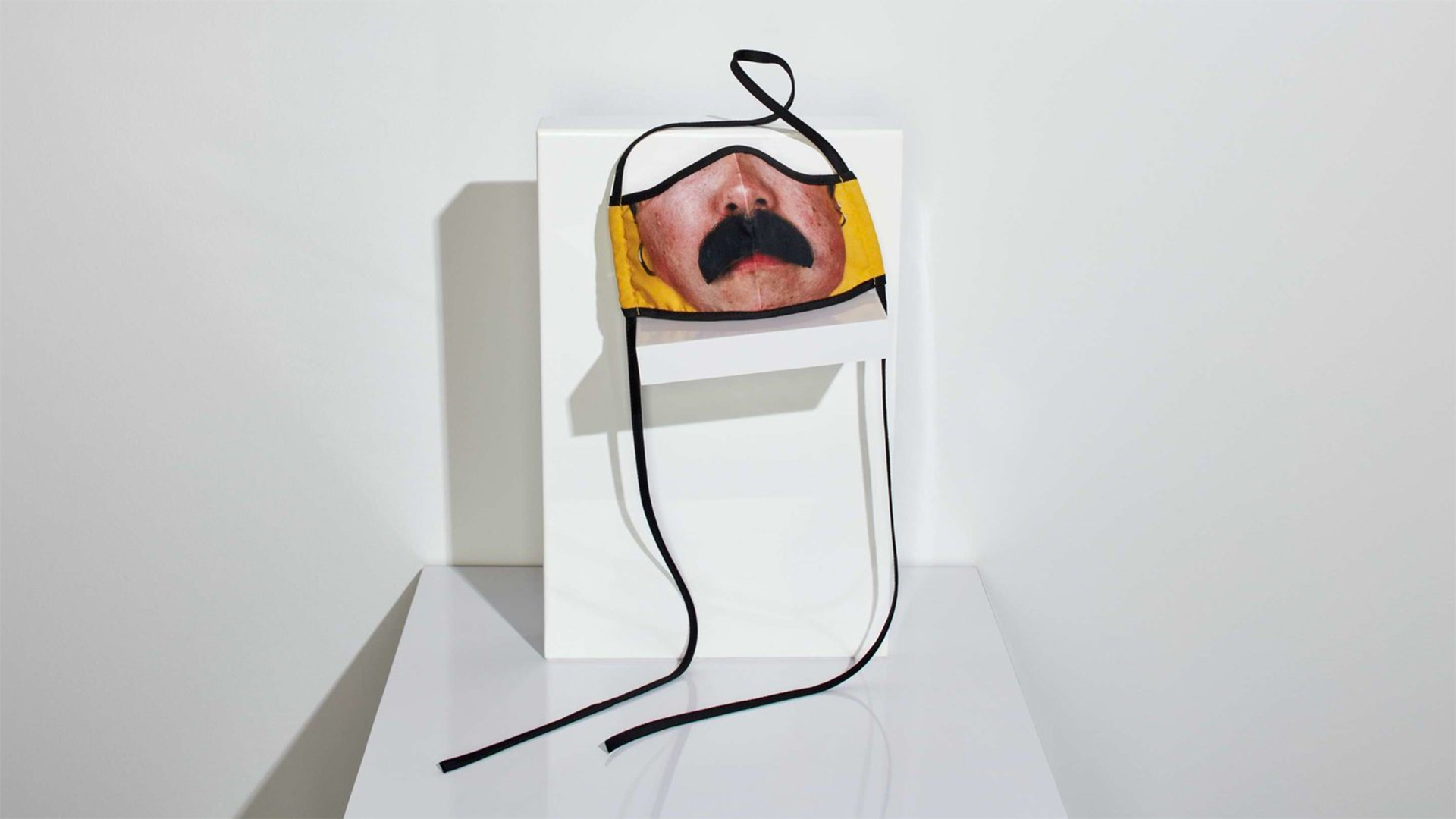"Photographer Catherine Opie made this mask for Los Angeles Museum of Contemporary Art. ""I wanted to make something with a bit of humor ... humor is needed in this moment,"" Opie says."